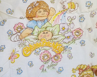 "Vtg Springs White CPK Cabbage Patch Kids Blanket Comforter Twin Size 68"" X 86"""