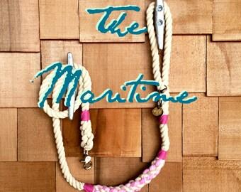 The Maritime Traditional Dog Leash, Dog Lead, Rope Lead, Cotton Rope Leash, Handmade Rope Leash
