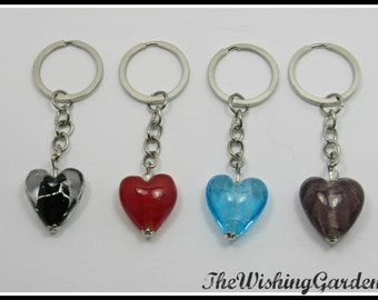 Keychain Simple Glass Heart