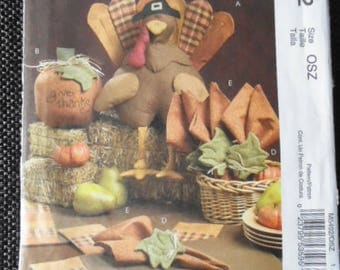 Sewing Pattern Mccall's 5492 Thanksgiving Harvest tabletop