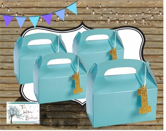 1st BIRTHDAY Goody Treat Favor Box with Hang Tag's