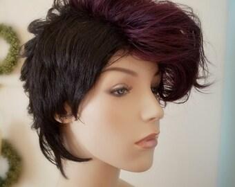 Purple Wig Etsy