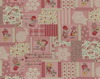 1/2 yard Lecien Japan Little Heroines 2016 Collection | Pink Little Heroines Patch | # 31455L-20