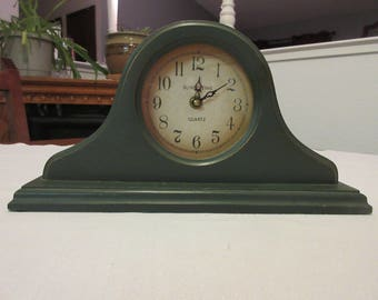 Vintage Wooden Distressed Mantel Clock