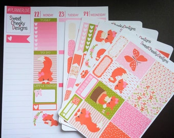 Sweet Foxes Weekly Planner Kit!  Available for Erin Condren Life Planner or MAMBI/Happy Planner