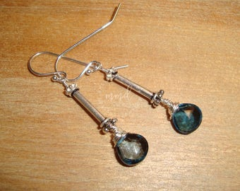 London Blue Topaz and Sterling Silver Earrings