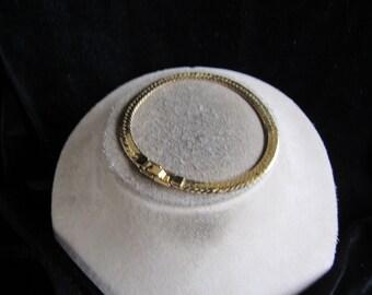 Vintage Goldtone Herringbone Bracelet