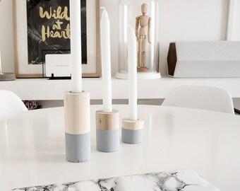 KIT DIY - Wooden candlesticks