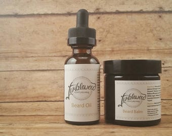 Beard Bundle : Beard Oil  Beard Balm • Botanically Infused • Organic • Natural