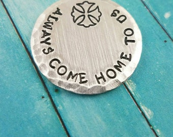 Always Come Home To Us, Firefighter Pocket Token, Firefighter Lucky Coin, Firefighter Custom Token, Firefighter Gift, Pocket Token for Him