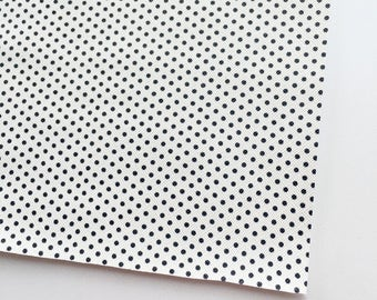 White Polka Dot Faux Leather, Vinyl, Vegan Leather, White Dot, Fake Leather, Faux Leather Sheet, White Faux Leather, Black and White, Dot