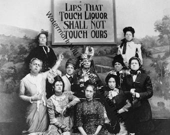 Vintage Lips That Touch Liquor Prohibition Temperance Women's Lib Photo Pic