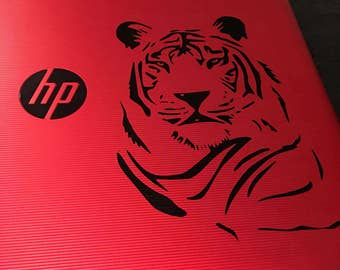 Tiger decal - tiger sticker - tiger laptop sticker - tiger car decal - jungle decal - striped tiger decal