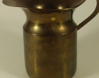 Heavy Bottom Brass Pitcher