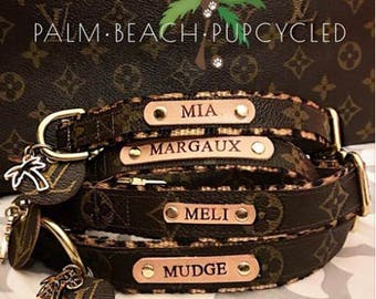 Louis Vuitton dog Collar w/LV hang tag! Authentic LV Monogram! Personalization available A portion of sales goes to animal rescue!