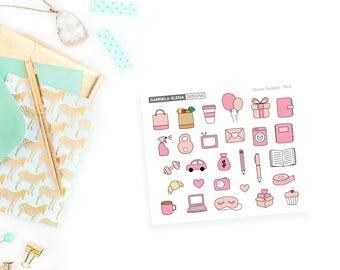 Drawn Monochrome Samplers / Pastel / Pink