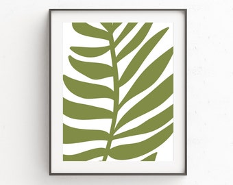 Bohemian Patio, Palm Leaf Print, Garden Patio Art, Palm Leaf Printable, Patio Decor, Palm Leaf Art Print, Monstera, Palm Leaf Wall Decor