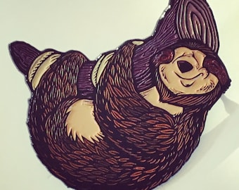 Happy sloth hat pin - soft enamel - limited edition 100