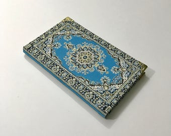 Notebook/ Journal / covered with Fabric / Ottoman pattern/ Blank with lines