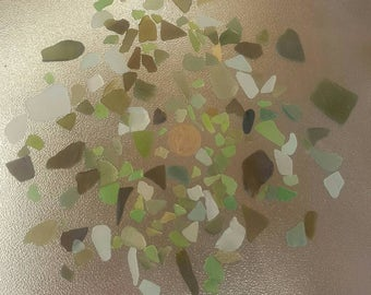 300g AUTHENTIC Green/Frosty Beach Glass Sea Glass