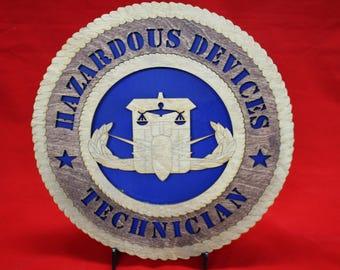 US Navy hazardous device technician