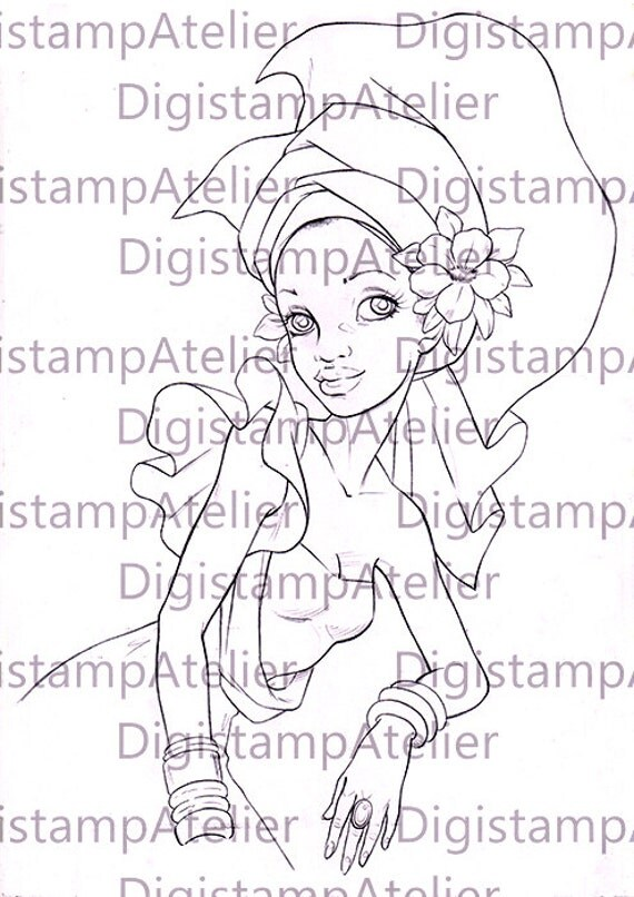 African Queen Pages Coloring Pages