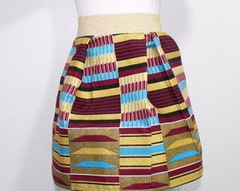 African Toddler skirt, pleated girl skirt-Shine
