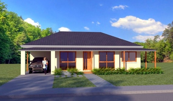 125 m2 3 bedroom single garage 3 bed 1 car 3 bed for Liberia house plans