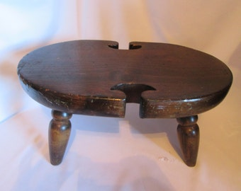 Vintage small wooden stool / Vintage Small wooden stool