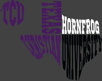 TCU Texas SVG DXF