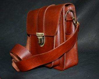 Leather Messenger Bag, Men's case, Work Bag, Handmade Cross-body Bag, Urban Style, Gift