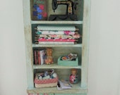 doll house furniture miniature furniture 12th scale furniture miniature sewing unit