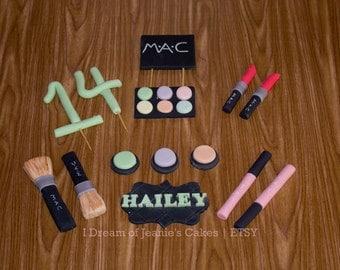 Neon, Bright, Pastels, Custom Colors, MAC Makeup Cake Topper Set