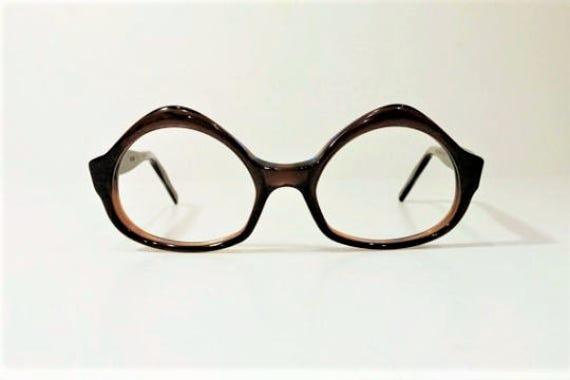 vintage 1960s swank brown tortoise cat eyeglass frames nos vintage large size glasses frames