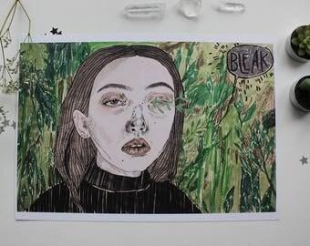 BLEAK / A4 print / PREMIUM recycled white board