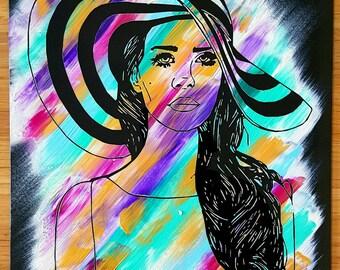 Lana Del Ray ~ Lana Del Ray Art ~ Lana Del Ray Painting ~ Lana Del Ray Poster ~ Lana Del Ray Print ~ Original Painting ~ Handmade Wall Art