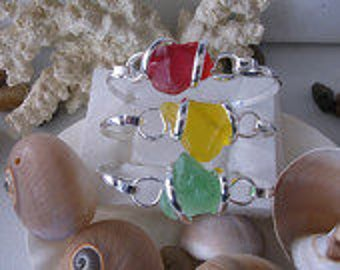 Sea Glass Bracelets in these 3 colours also
