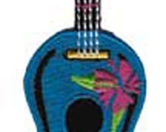 """Hawaii Ukelele Guitar Iron On Patch 4.2"""" x 2.4"""" Free Shipping by C&D Visionary P-3798"""