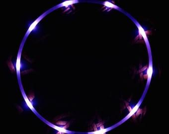 """Strobe LED Hoop - 5/8"""" hdpe - 10 Strobing leds - Regular AAA Batteries"""
