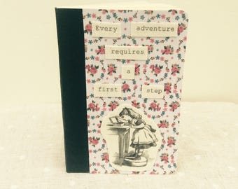 Alice in Wonderland small notebook with quote