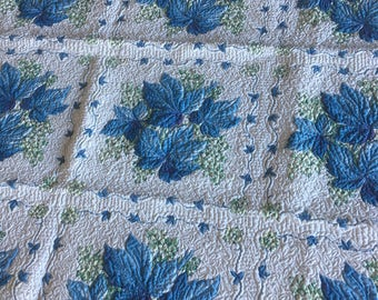 Blue Ivy Quilted Vintage Tablecloth