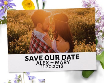 Picture Save the Date, Save the Date Cards, Personalized Save the Date Cards #14