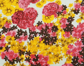 "Indian Dress Fabric, Floral Print, Home Decor Cotton Fabric, Dress Material, Sewing Craft, 41"" Inch Floral Fabric By The Yard ZBC6075"