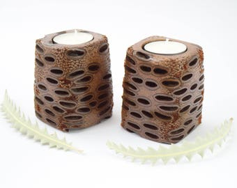 Australian Made Rustic Candle Holder Wooden Candle Holder Wood Home Decor Australian
