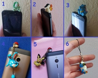 2nd Generation Pokemon Polymer Clay Charm, Dust Plug Charm, Cell Phone Charm, Phone Strap Charm, Figure || 2 + 1 free !