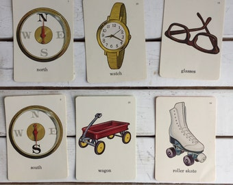 Vintage Flash Card Clothing Accessories / 70's Flash Cards
