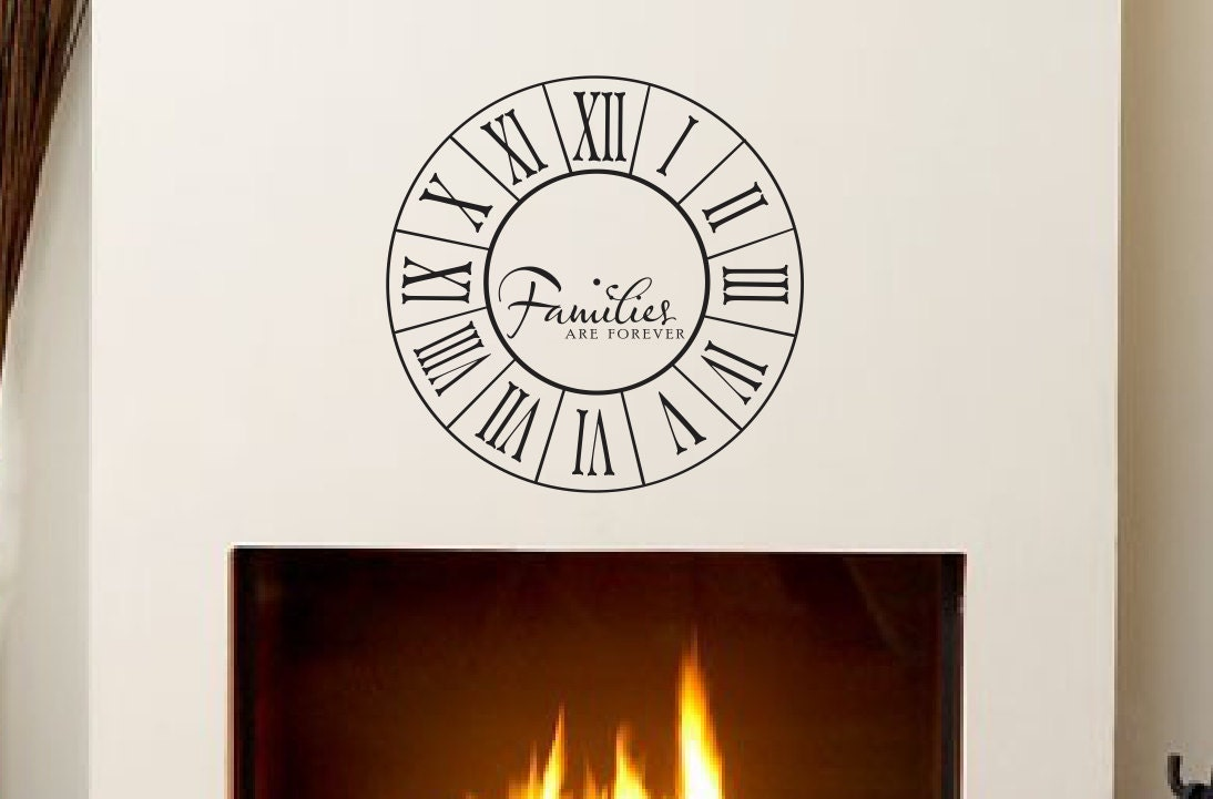 Families Are Forever Clock Decal - Home Decor Vinyl Wall Decals ...