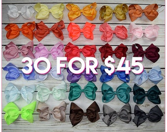 Hair Bows/8 inch bow /BEST SELLER/30 colors----Classy Lady-Large hair bow/ Boutique bows/girl bows Large hair bow/ Boutique bows/girl bows