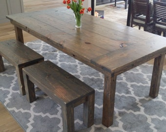 8 Ft Rustic Farm Table   Beautiful U0026 Strong   All Farmhouse Tables Are 100%