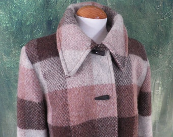 Vintage Check Wool Jacket  Size M